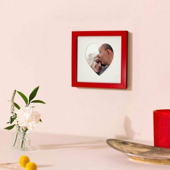 красная рамка валентинка 15х15