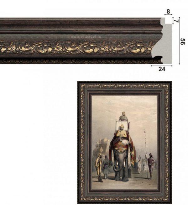 Рама для картины из пластикового багета 135007