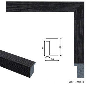 Черная рама для графики или фото 2028