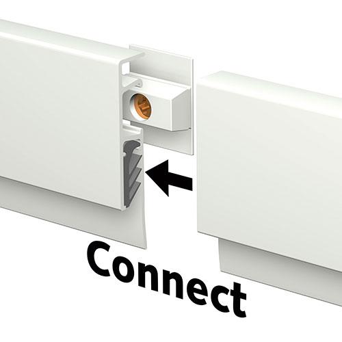 Подвесной профиль белый Инфо 2м.