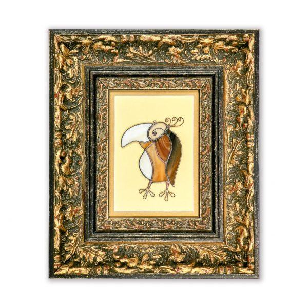 Картина Попугай в стиле Тиффани