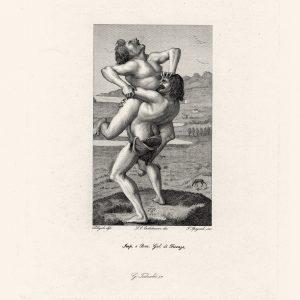 Картина Полайоло - Геркулес и антей
