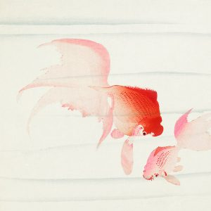 Картина Золотая Рыбка в белой раме