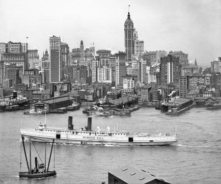 Манхэттен и небоскребы Нью Йорка (1908)