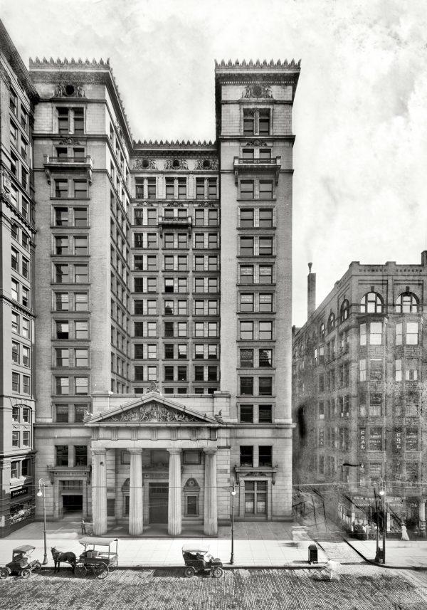 Cleveland Ohio circa 1905 винтажная Америка