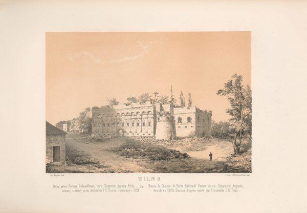 Napoleon-Orda-Wilno-Ruiny-palacu-Barbary-Radziwil-1523-1551