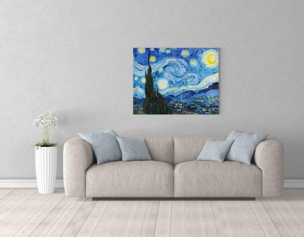 Картина Звездная Ночь 70х90см над диваном