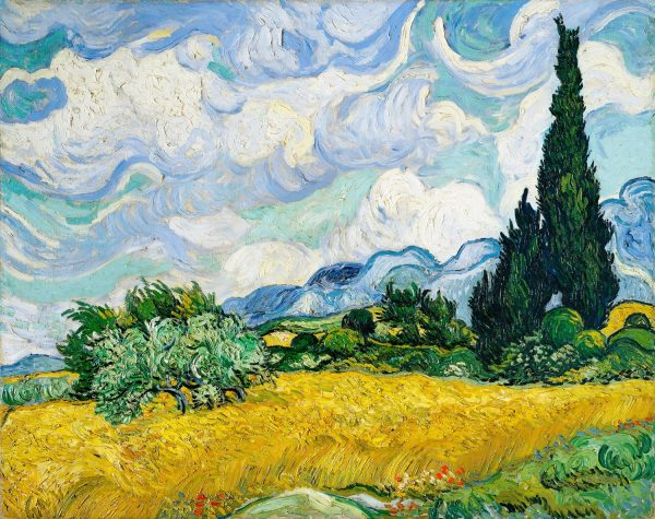 Wheat Field with Cypresses 1889 by Vincent Van Gogh. Original from the MET Museum 70 90