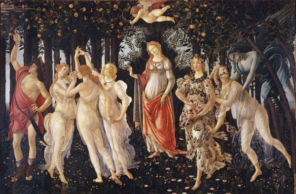 картина Ботичелли - Весна Botticelli primavera