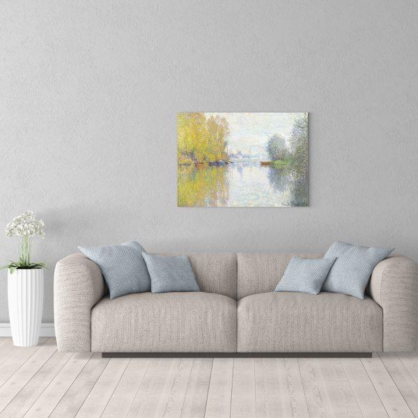 Репродукция 60х80см картины Моне Осень в Аржанте в комнате
