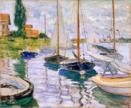 Claude Monet Voiliers sur la Seine 1874 50 60 190