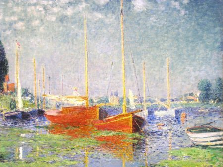 Claude Monet Red Boats in Argenteuil