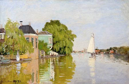 Houses on the Achterzaan 1871 by Claude Monet The MET