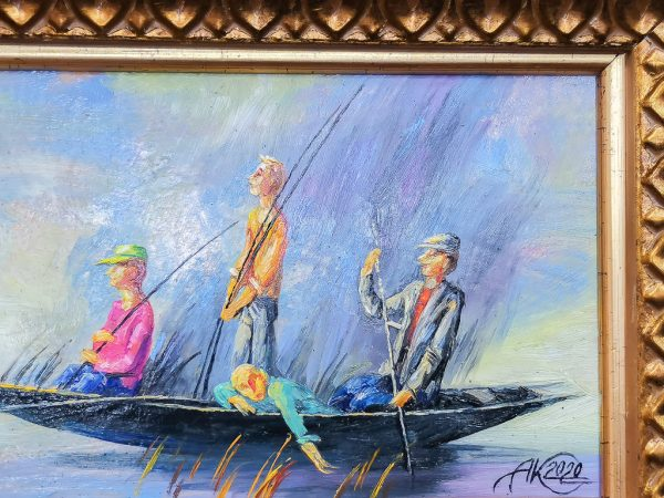 "Картина ""На утреннюю рыбалку"" Анатолия Концуба"