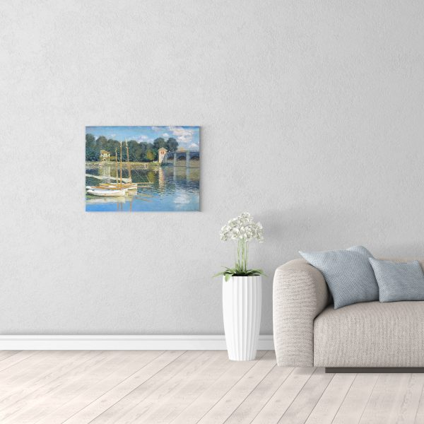 Репродукция Моне Мост в Аржанте 50х70 см в комнате