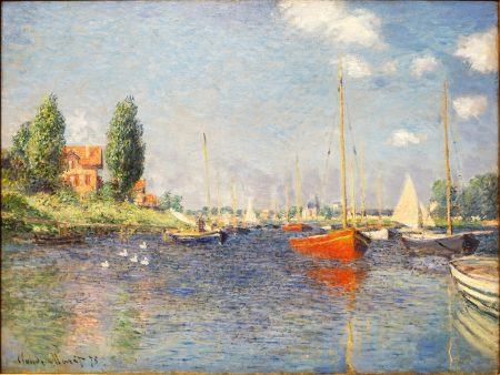 Red Boats Argenteuil Claude Monet 1875 Fogg Art Museum Harvard University 60 80 180