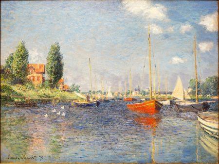 Red Boats Argenteuil Claude Monet 1875 Fogg Art Museum Harvard University 60 80 180