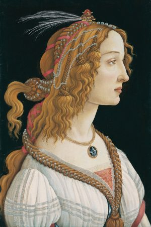 Sandro Botticelli Idealized Portrait of a Lady Portrait of Simonetta Vespucci as Nymph