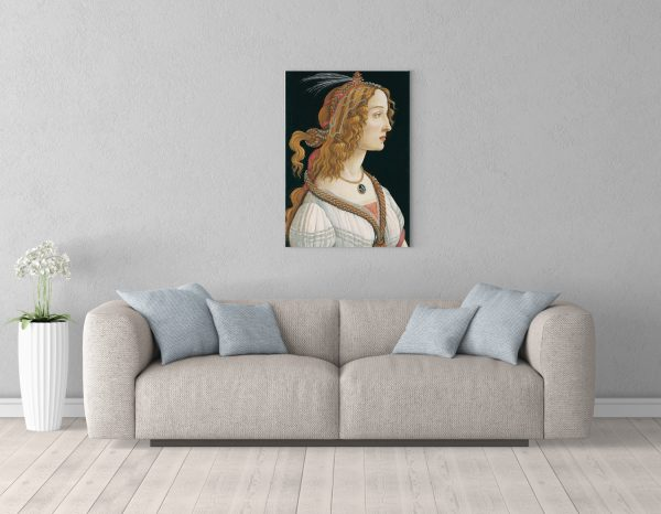 Картина размером 85х56см Sandro Botticelli Idealized Portrait of a Lady Portrait of Simonetta Vespucci as Nymph 85 56 room