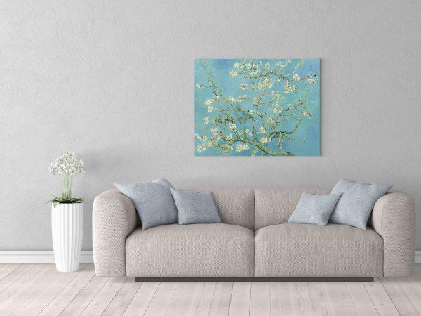 Картина размером 70х90см Ван Гог Цветущие ветки миндаля