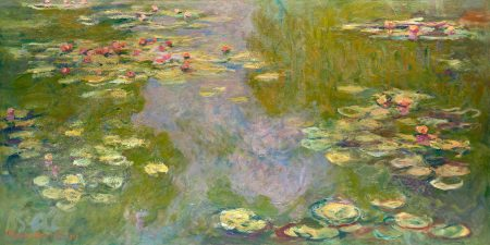 Water Lily Pond Claude Monet the Art Institute of Chicago 50 100 180