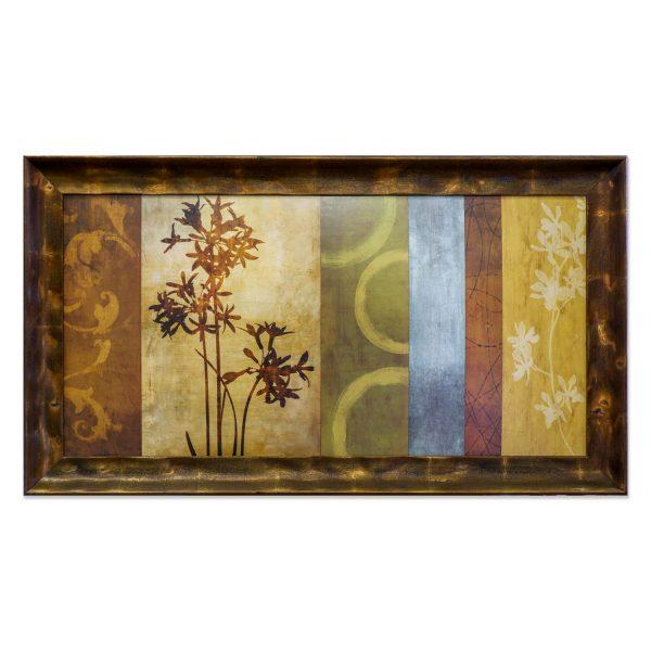 kartina dlja interera dekoratativnaja kompozicija v bronzovoj rame 50 100