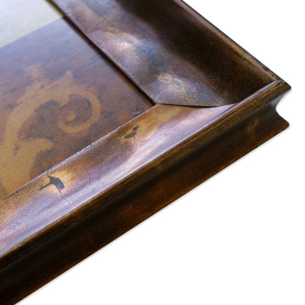 kartina dlja interera dekoratativnaja kompozicija v bronzovoj rame 50 100 baget