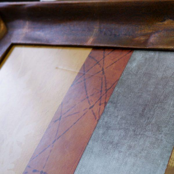 kartina dlja interera dekoratativnaja kompozicija v bronzovoj rame 50 100 carapina