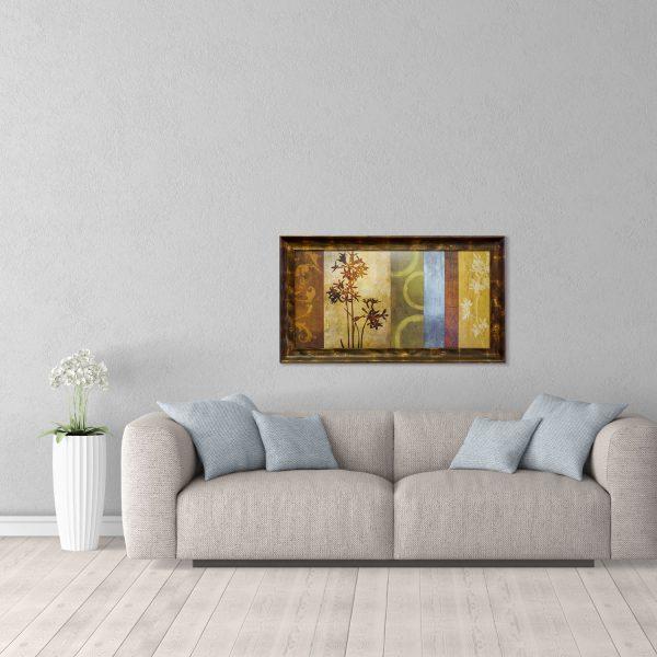 kartina dlja interera dekorativnaja kompozicija v bronzovoj rame 50 100 interer