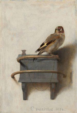 Картина Фабрициуса Щегол