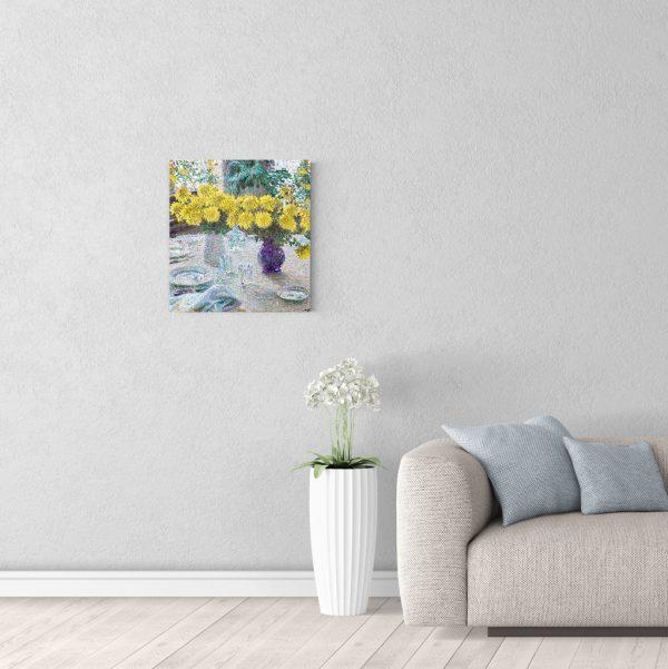 Картина для интерьера Грабарь Хризантемы 50 на 50 см